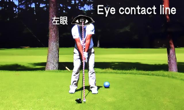 アイコンタクトライン(眼とボールの視線)の維持の仕方