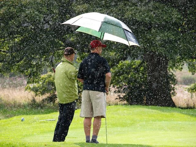雨の日ゴルフでスコアをまとめるには